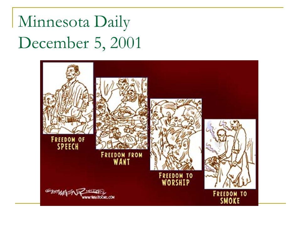 Minnesota Daily December 5, 2001