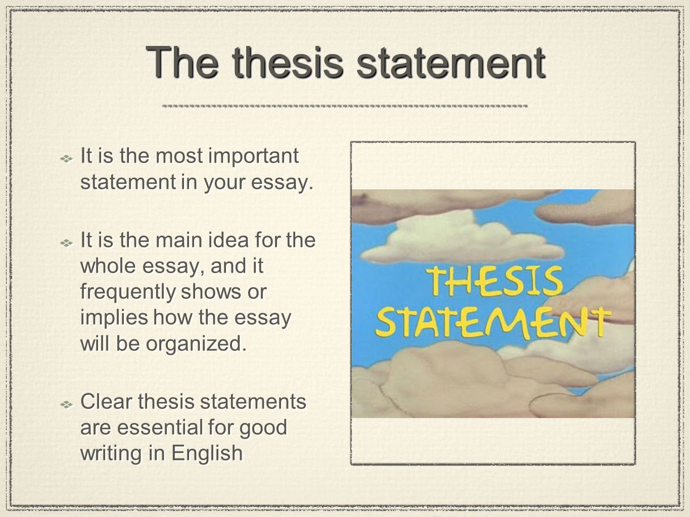 the essay part ii from paragraph to essay expanding the it is the most important statement in your essay
