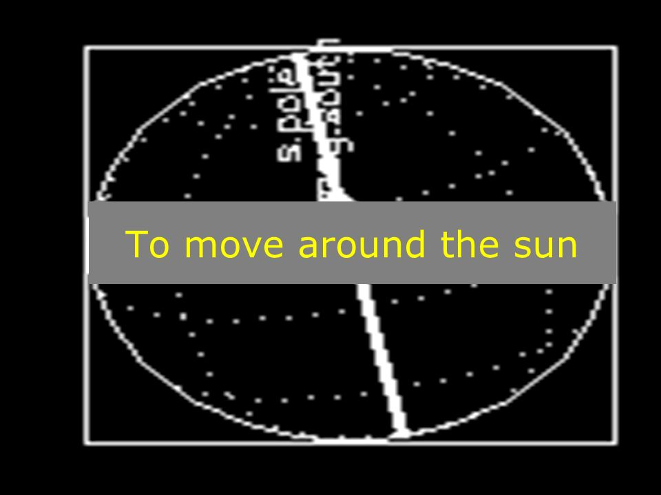 To move around the sun