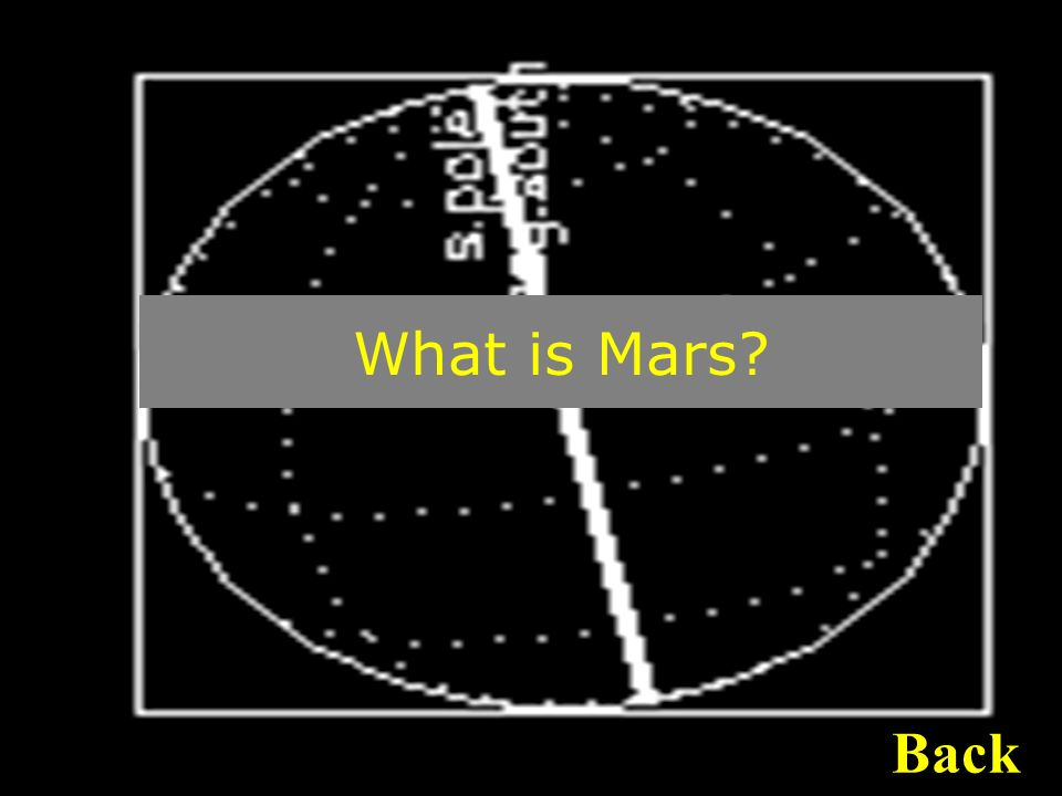 What is Mars Back