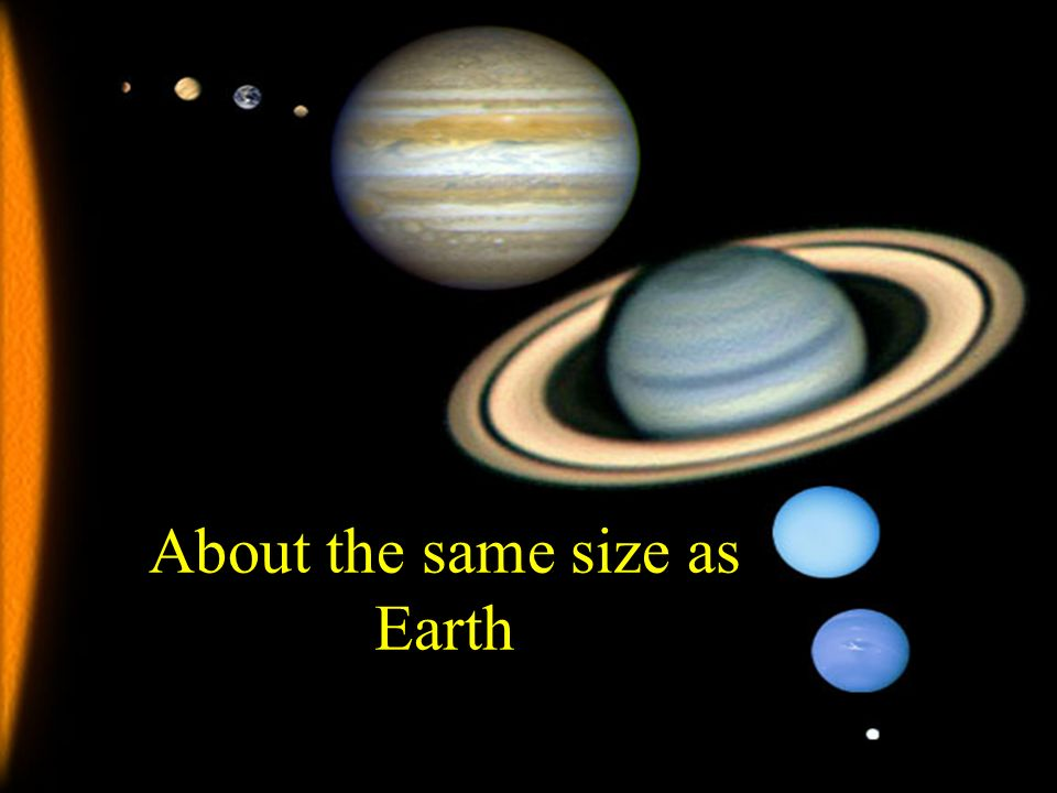 About the same size as Earth