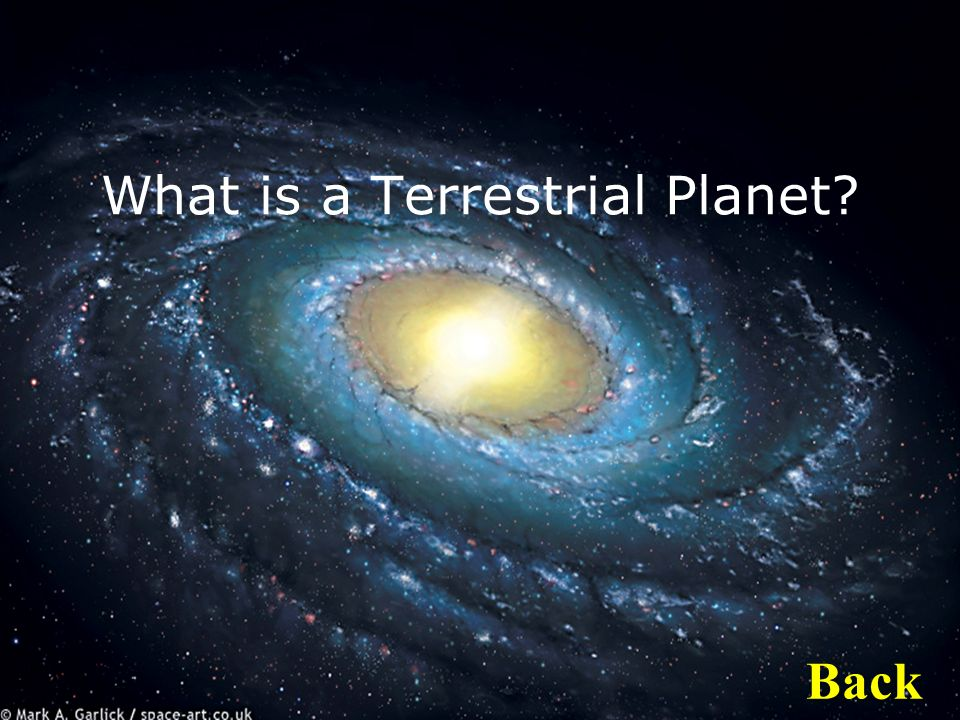 What is a Terrestrial Planet Back