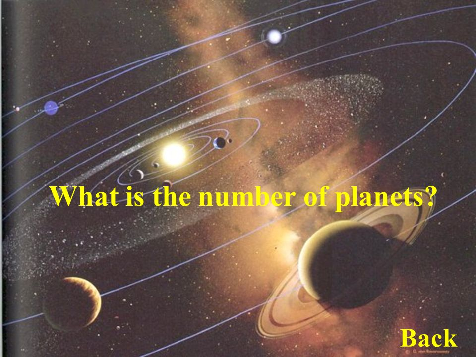 What is the number of planets Back