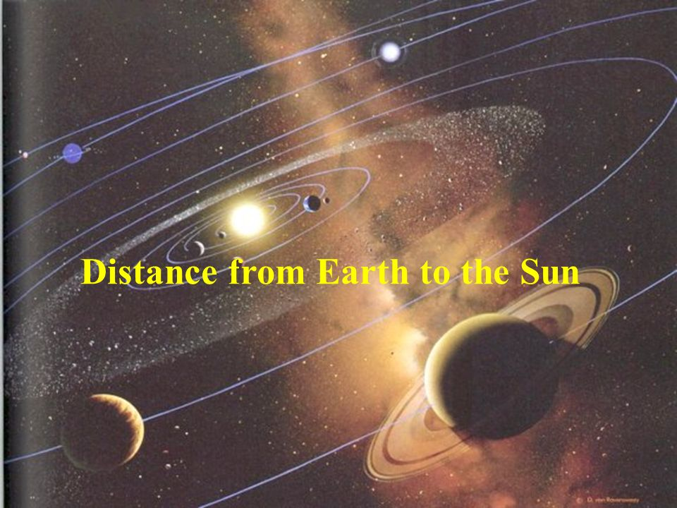 Distance from Earth to the Sun