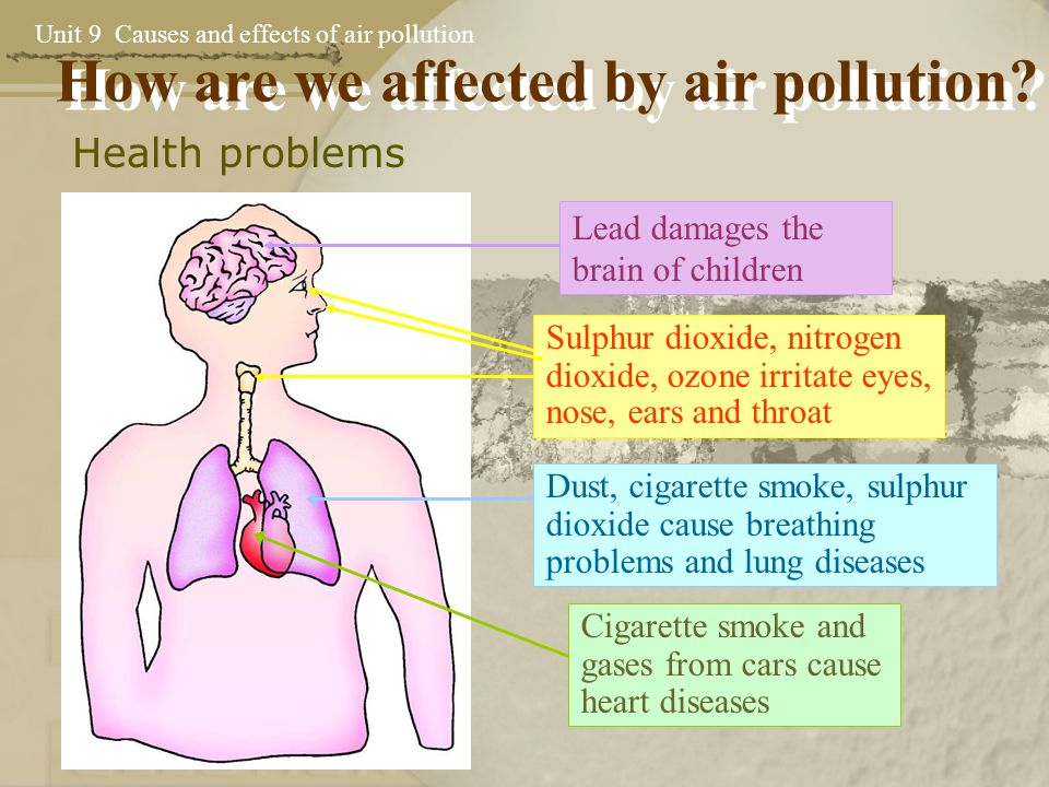 a discussion on the effects of air pollution Air pollution is a mixture of natural and man-made substances in the air we breathe what health effects are linked to air pollution.