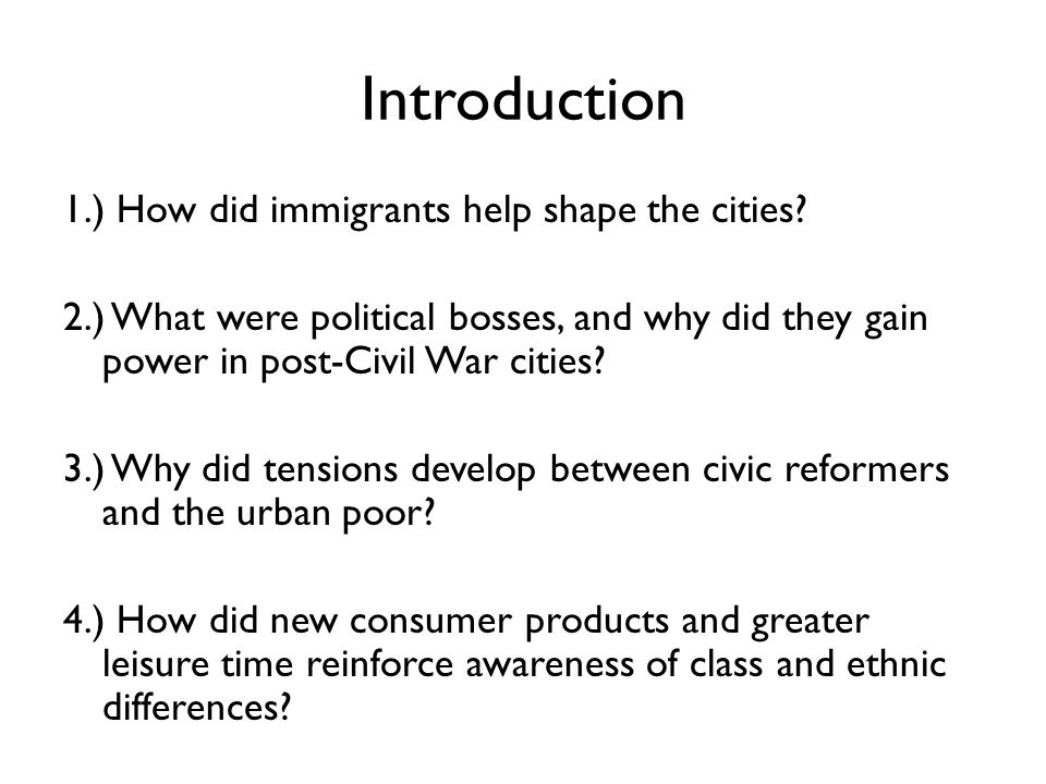 What is a good why to right a conclusion of a research paper about, Industrialization,immigration,ubanization?