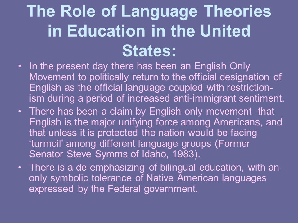 Global movements for planning language policies post colonial the role of language theories in education in the united states in the present day sciox Image collections
