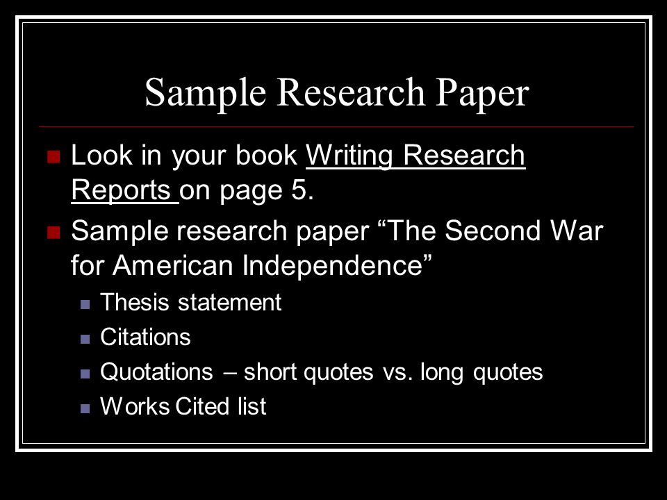 Thesis Statement In A Research Paper