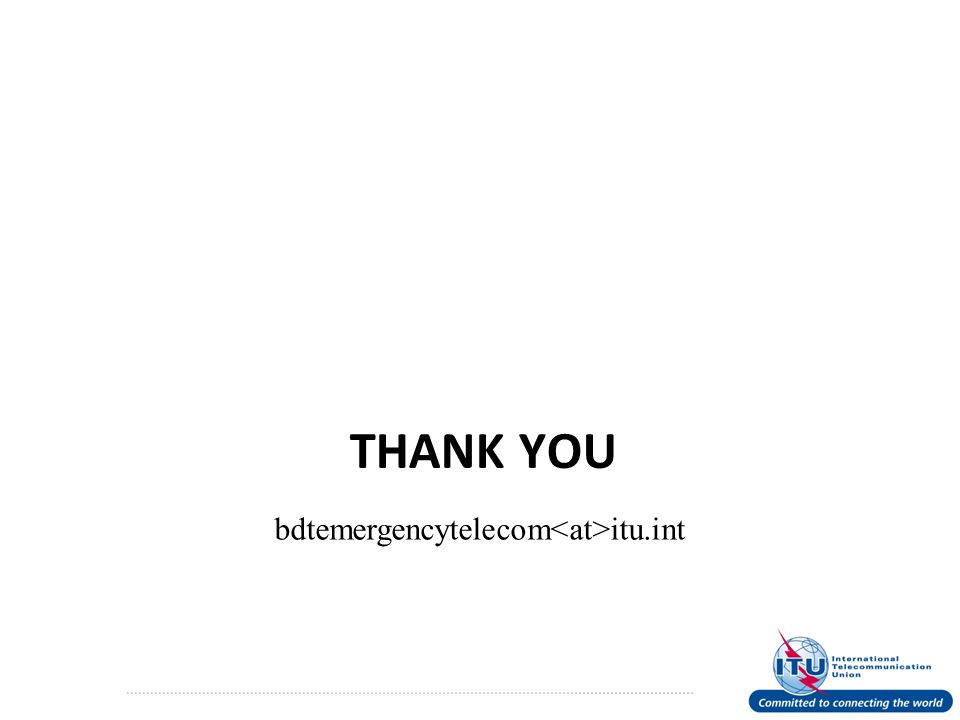 THANK YOU bdtemergencytelecom itu.int