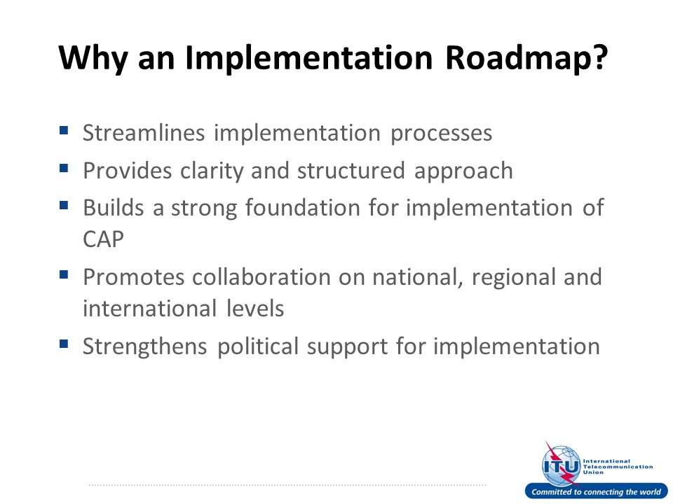 Why an Implementation Roadmap.