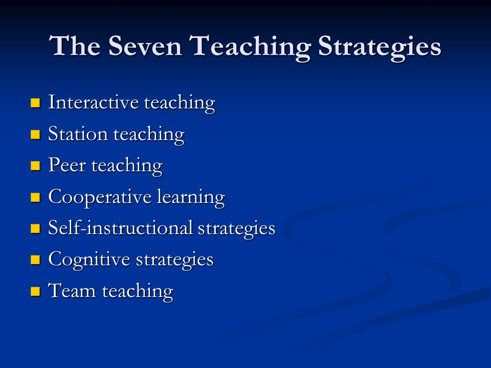 Interactive Teaching Strategies - Lawteched