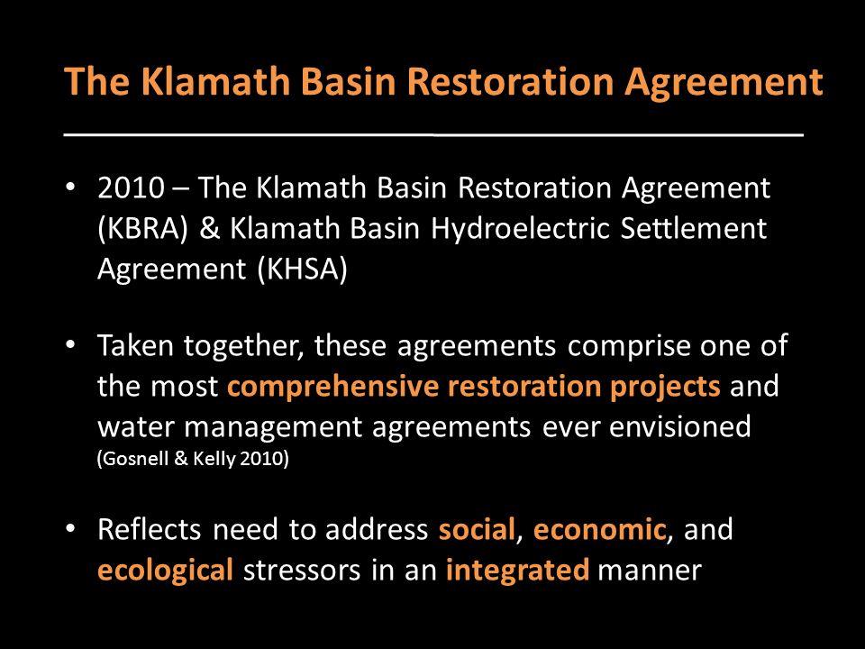 Characterizing collaboration in the klamath basin usa an exercise klamath basin restoration agreement 13 the platinumwayz