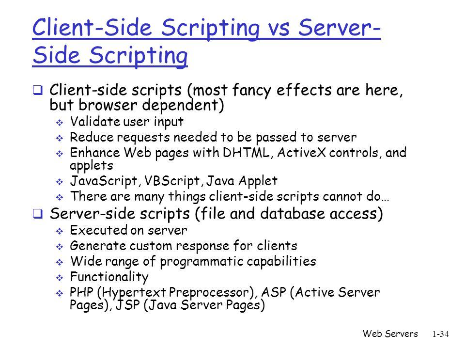 client side vs server side