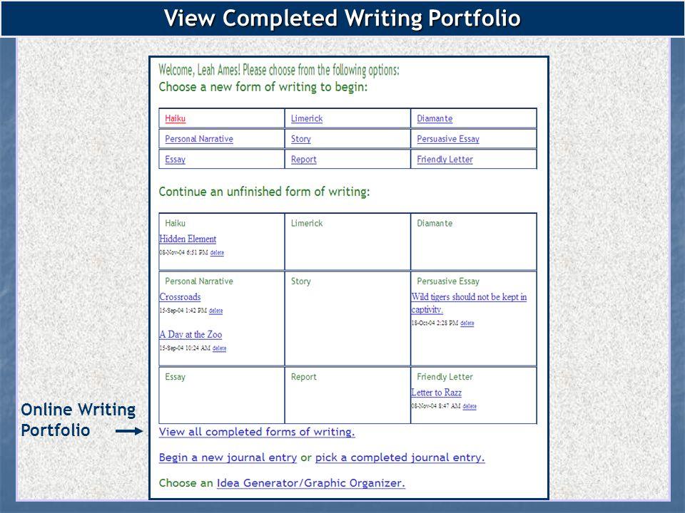 write portfolio essay