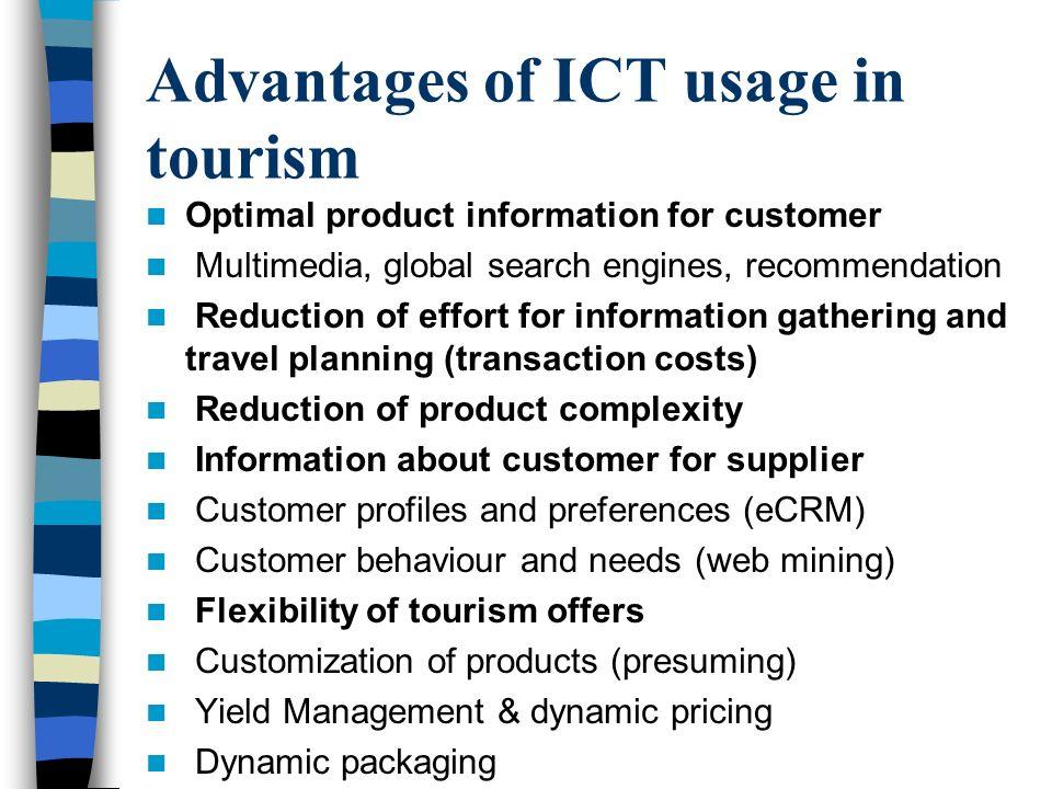 e tourism the role of ict