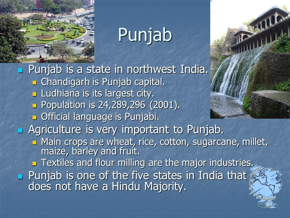 Punjab Punjab is a state in northwest India. Punjab is a state in northwest India.