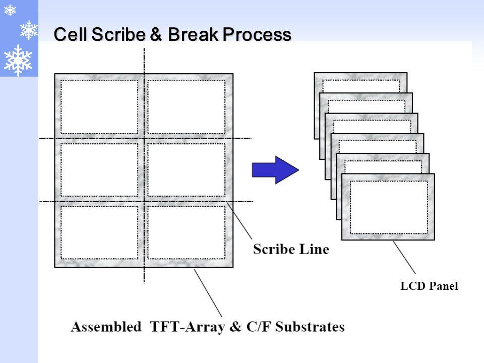 Cell Scribe & Break Process LCD Panel