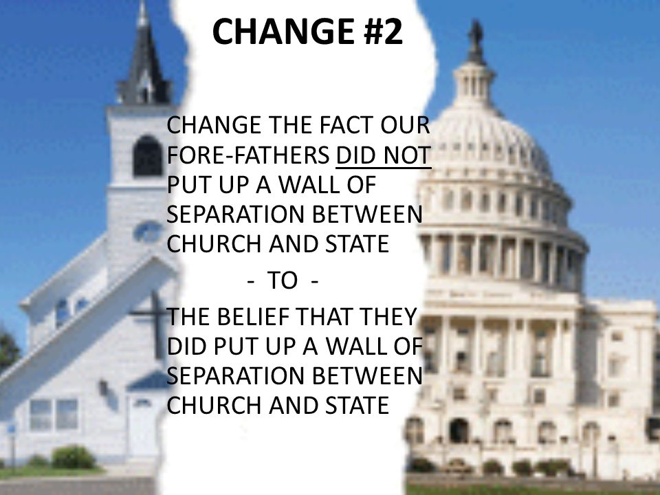 the lack of separation of church Pass the 28th amendment - complete removal of the church from the state americans united for separation of church and lack of prayer wasn't the problem for.