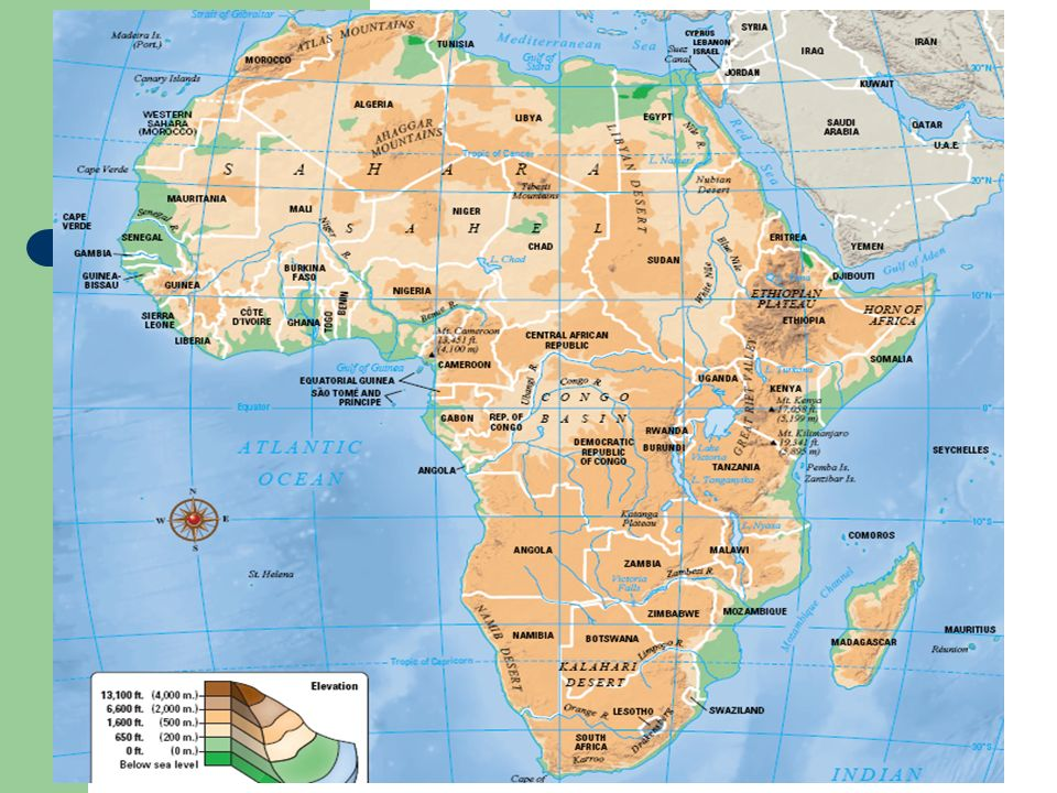 SubSaharan Africa Countries For The Political Map Quiz - Africa map kilimanjaro