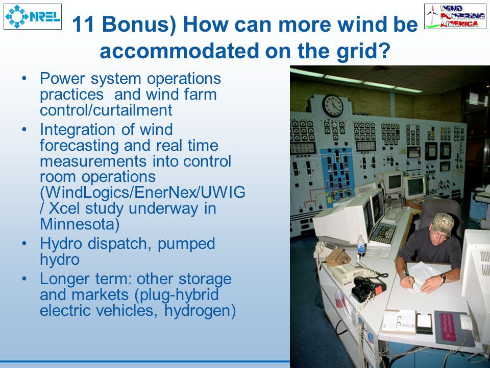 11 Bonus) How can more wind be accommodated on the grid.