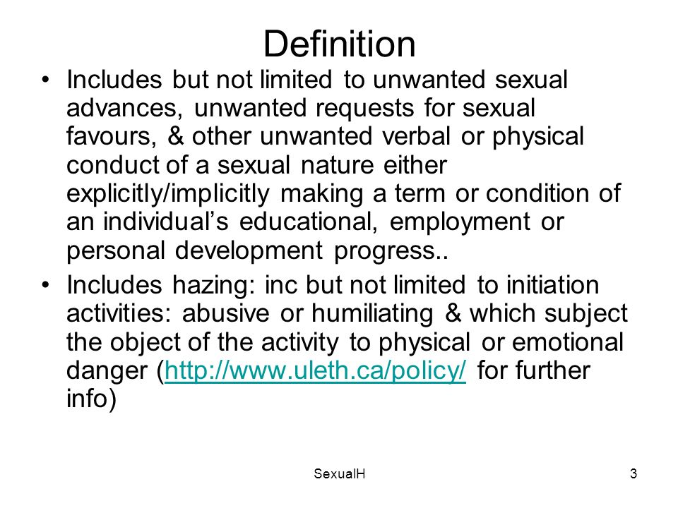 Research paper on sexual harassment