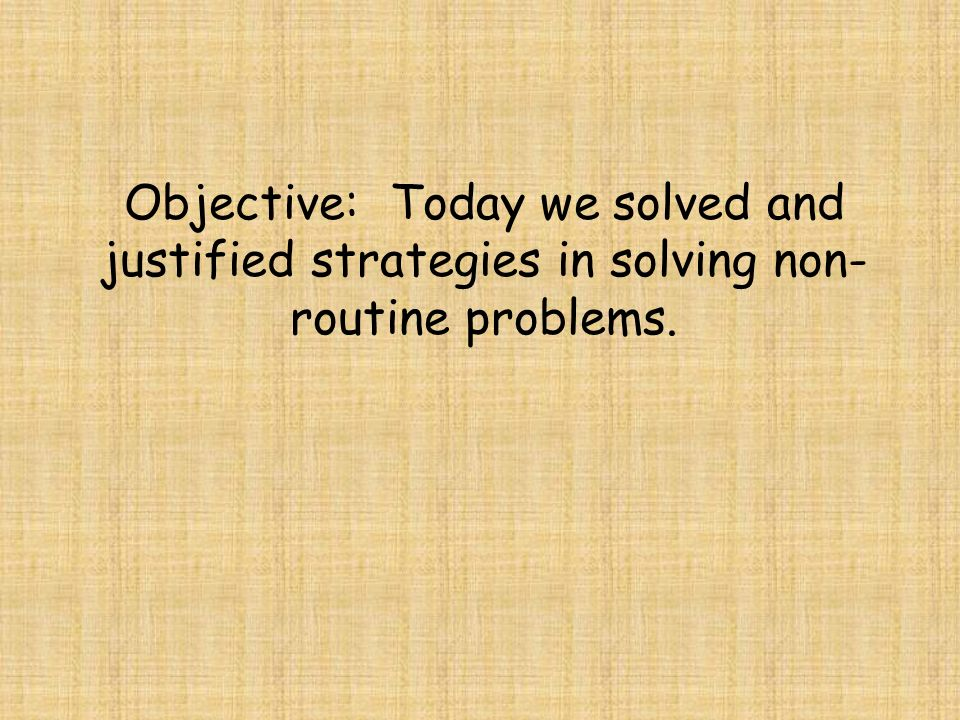 Routine problem solving