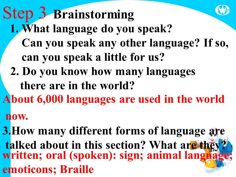 M Unit Language Welcome To The Unit Step Some Useful Words - How many types of languages are there in the world