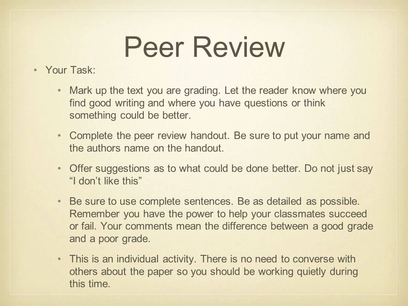 do now copy your homework memoir due by and hard copy by  5 peer