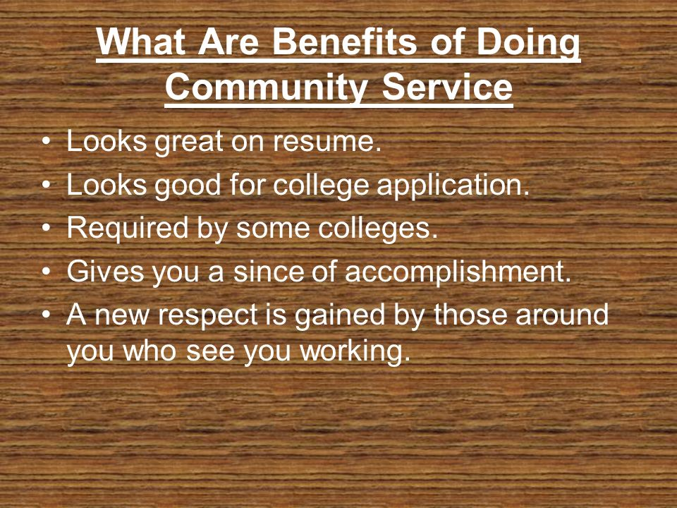 Can i get into a decent college without community service?