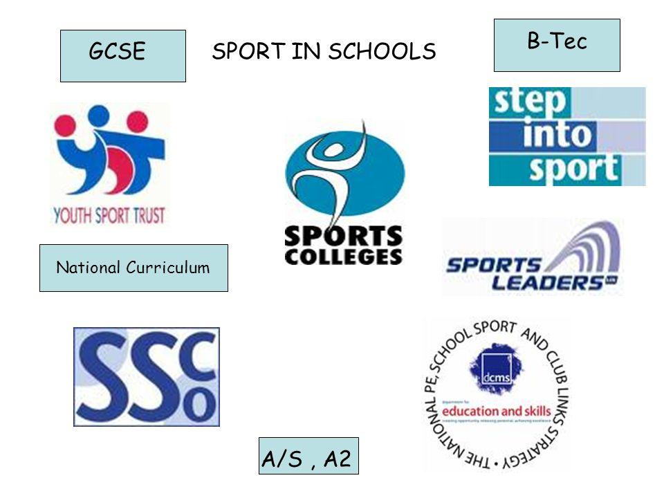 SPORT IN SCHOOLS A/S, A2 GCSE B-Tec National Curriculum