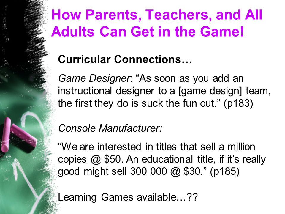 How Parents, Teachers, and All Adults Can Get in the Game.