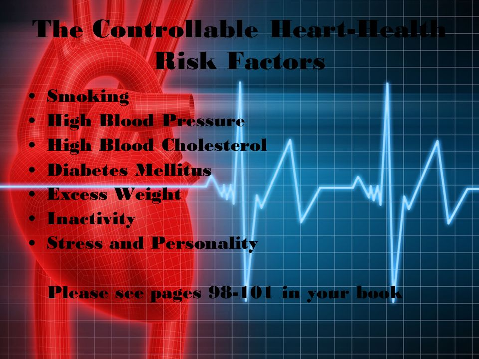 The Uncontrollable Heart- Health Risk Factors Age Gender Race Family History Please see page 97 in your book!