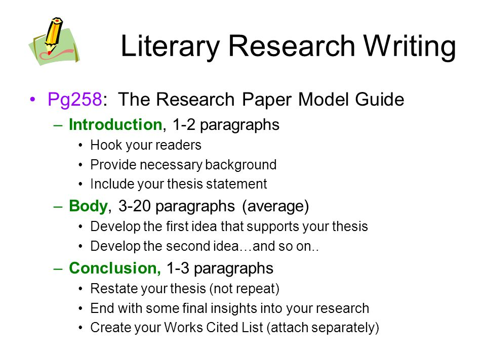 thesis based research paper definition