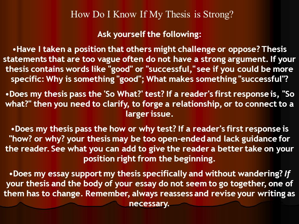 write good thesis statement biography