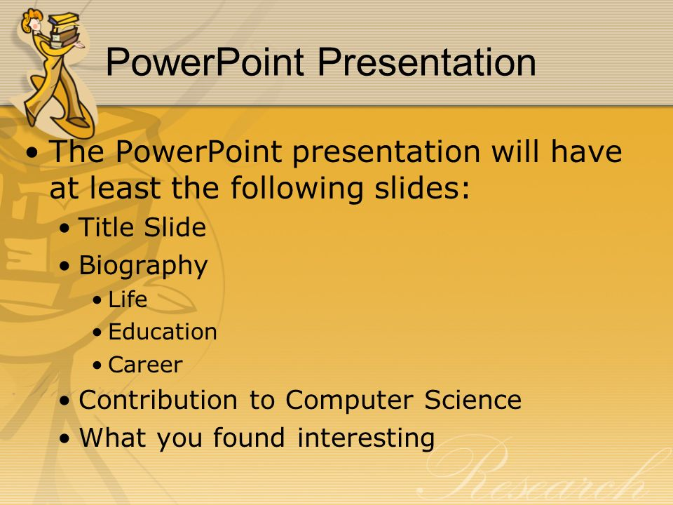research paper power point