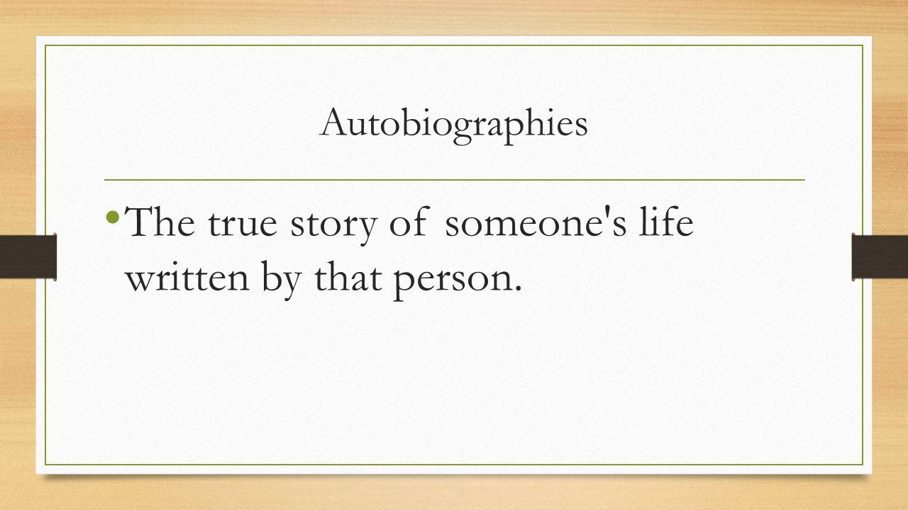 Written biography