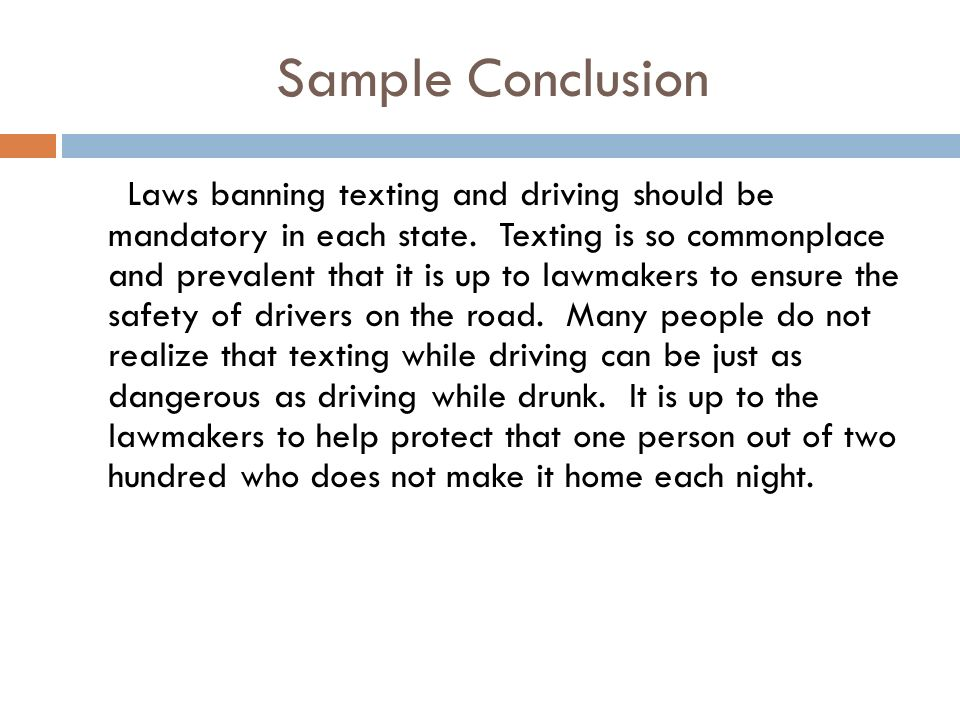 drinking and driving essay conclusion