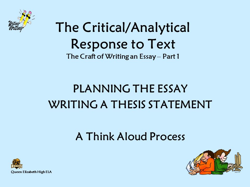 How to structure a response to text essay?