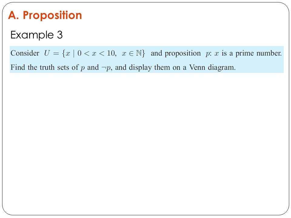 A. Proposition Example 3