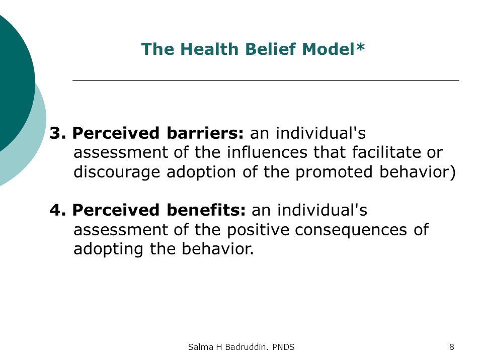 Salma H Badruddin. PNDS8 The Health Belief Model* 3.