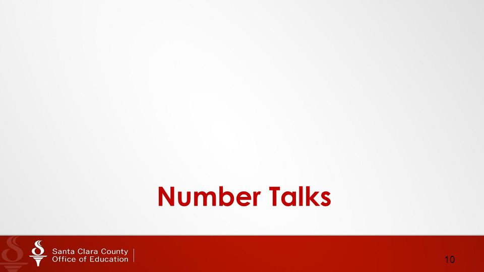 Number Talks 10