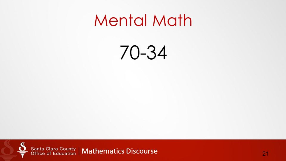 Mathematics Discourse Mental Math