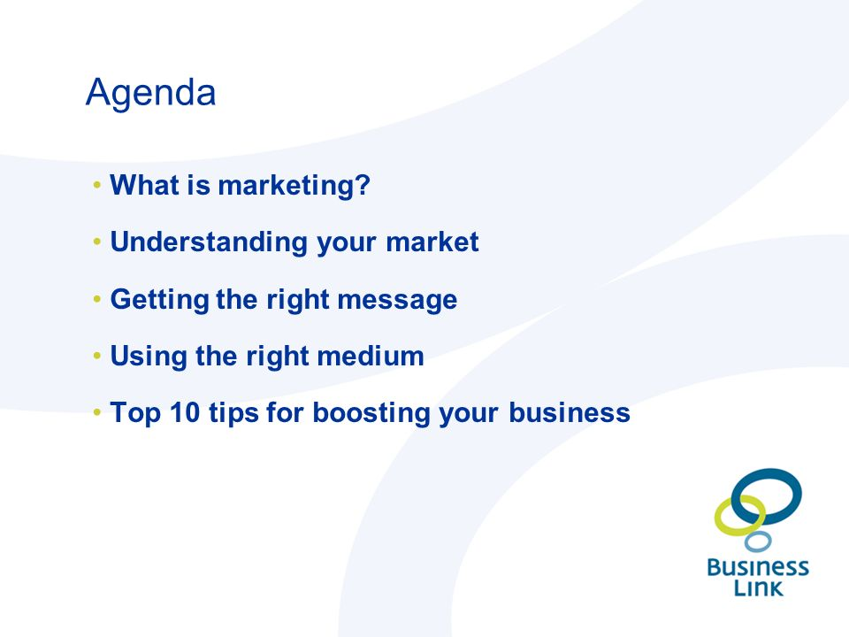 Agenda What is marketing.