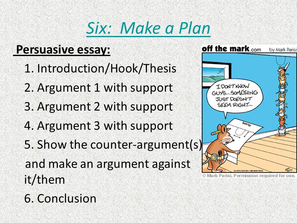 persuasive essay plan