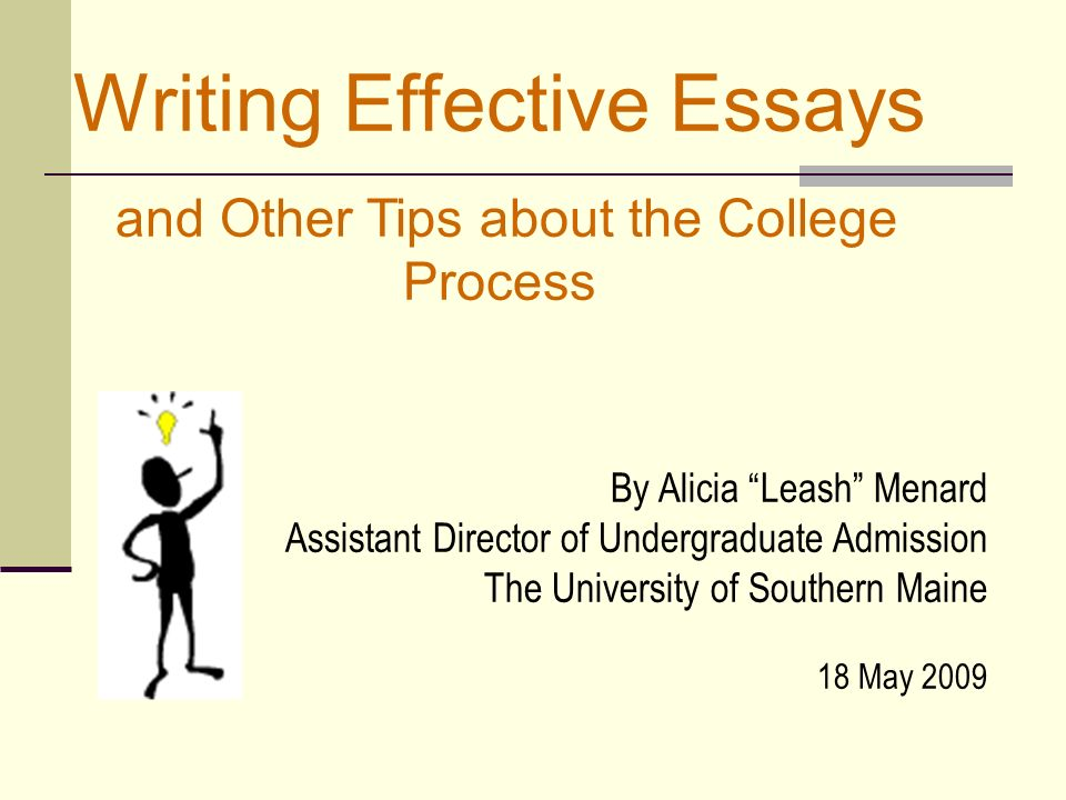 effective essay writing university