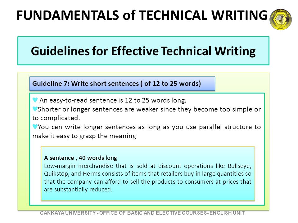 basics of technical writing