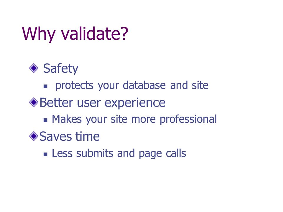 """Presentation """"Form Validation-Client and Server Verifying your ..."""