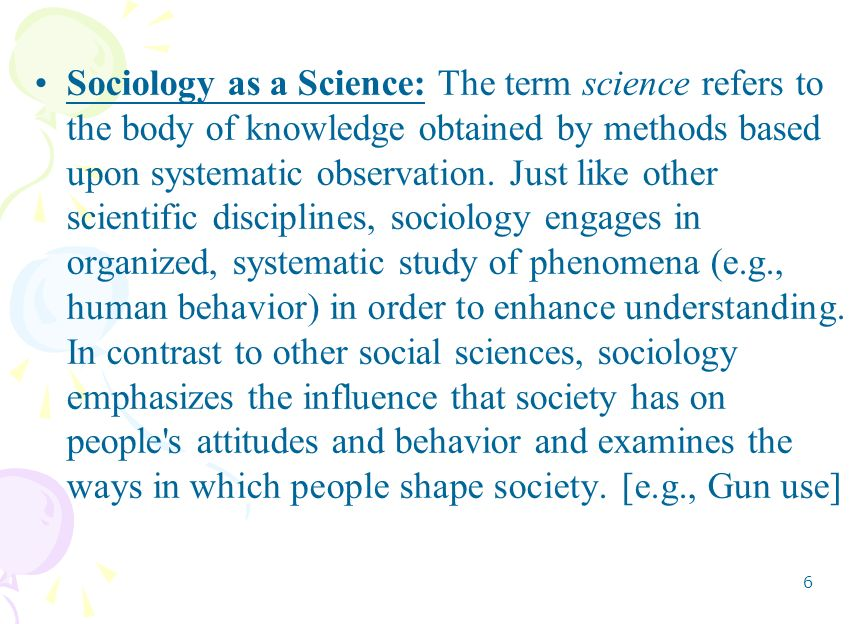 Sociology and Observation - Help!?