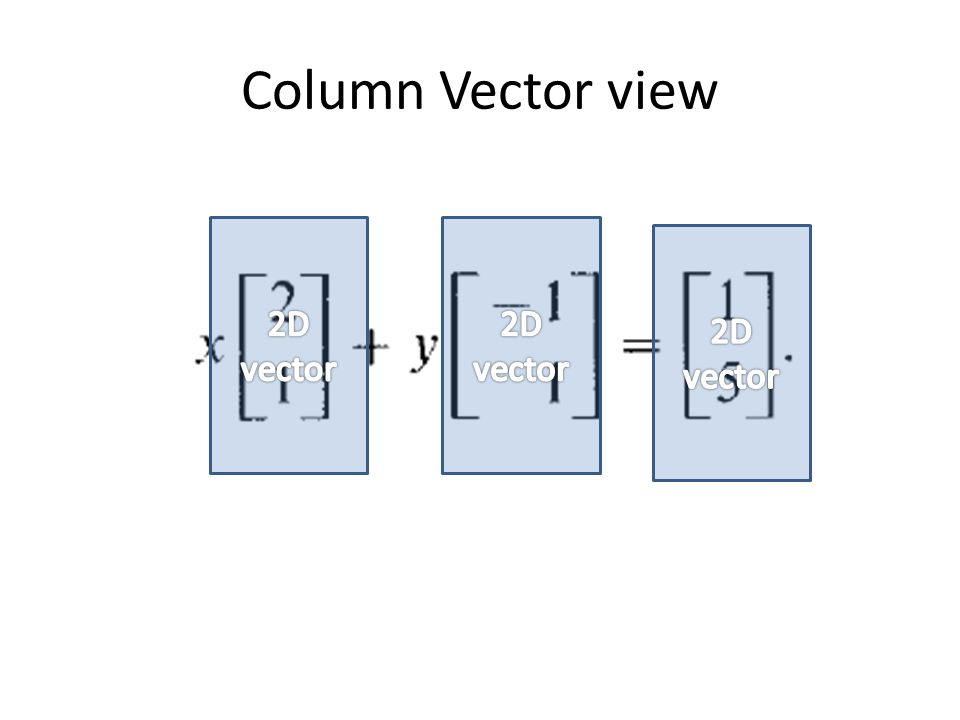 Column Vector view