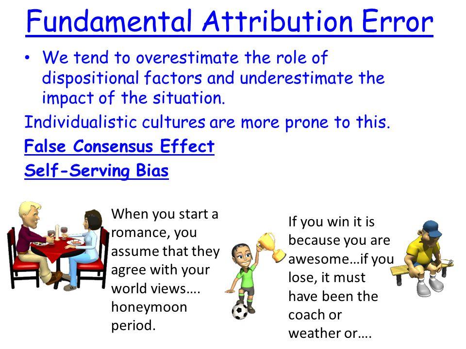 Psychology And Fundamental Attribution Error Term Paper Service